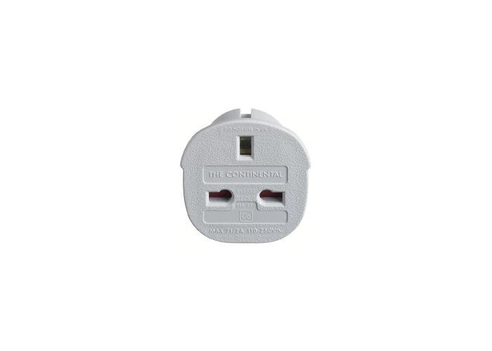 Go Travel Adaptor 3 Pin UK into 2 Pin Plug Euro Adapter - 2
