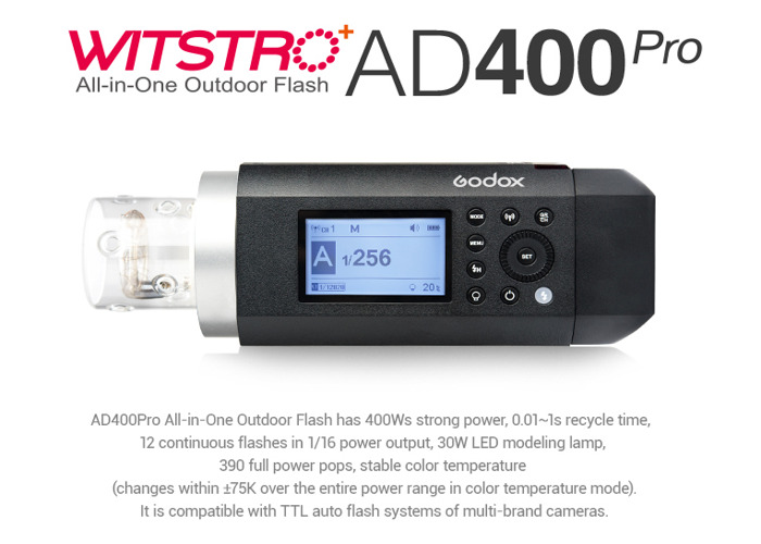 Godox AD400pro photography strobe light - 400watts + Trigger - 1