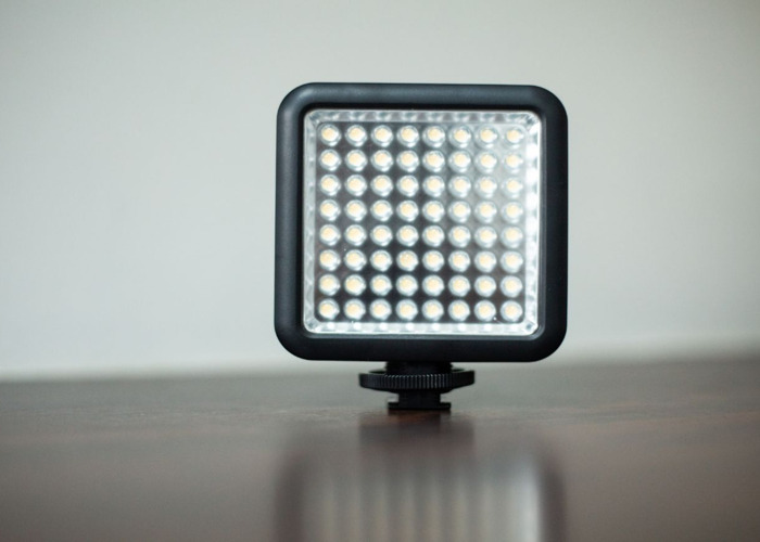 Godox LED64 Light with 4 AA batteries and battery charger for DSLRs - 1