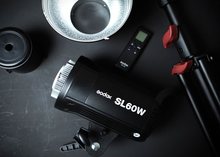 Godox SL60W video continuous led light, XL soft box, stand - 1
