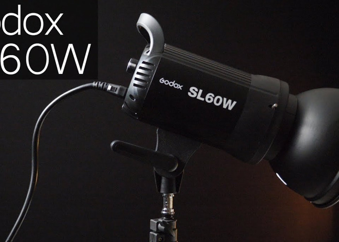 Godox SL60W video continuous led light, XL soft box, stand - 2