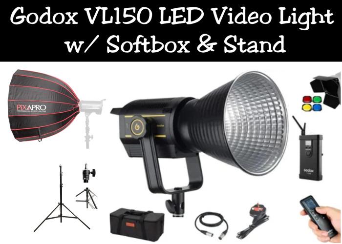 Godox VL150 LED Video Light w/ Softbox & Stand | Aputure 120D II - 1