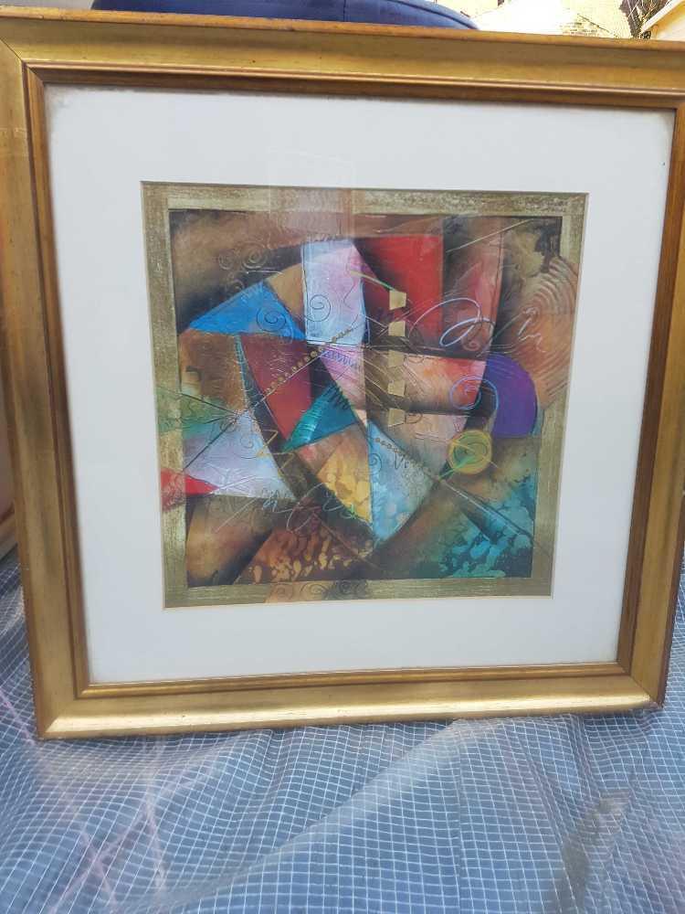 Gold framed picture - 2