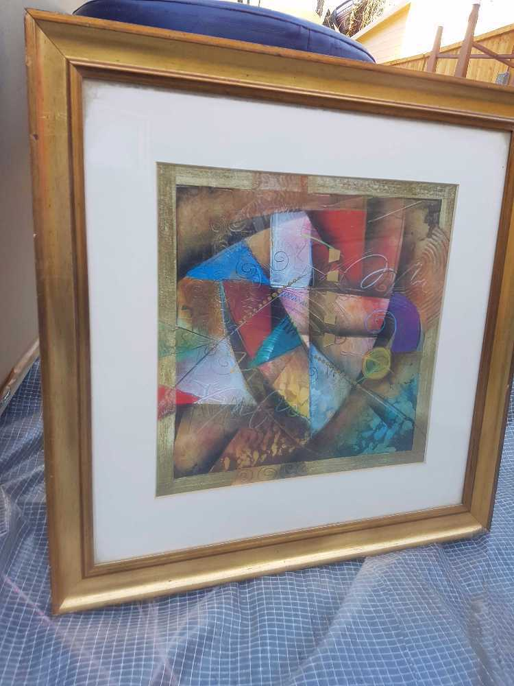 Gold framed picture - 1