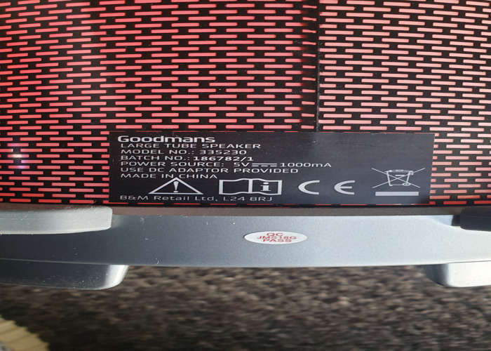 Goodmans Large tube speaker. Rechargeable great sounds  - 2