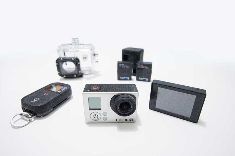 GoPro 3 + accessories mount case battery charger screen remote chest mount - 2