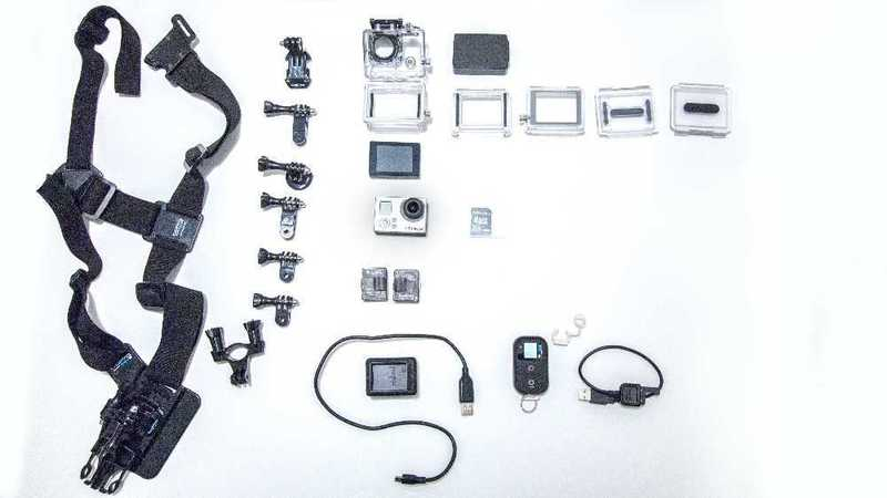 GoPro 3 + accessories mount case battery charger screen remote chest mount - 1