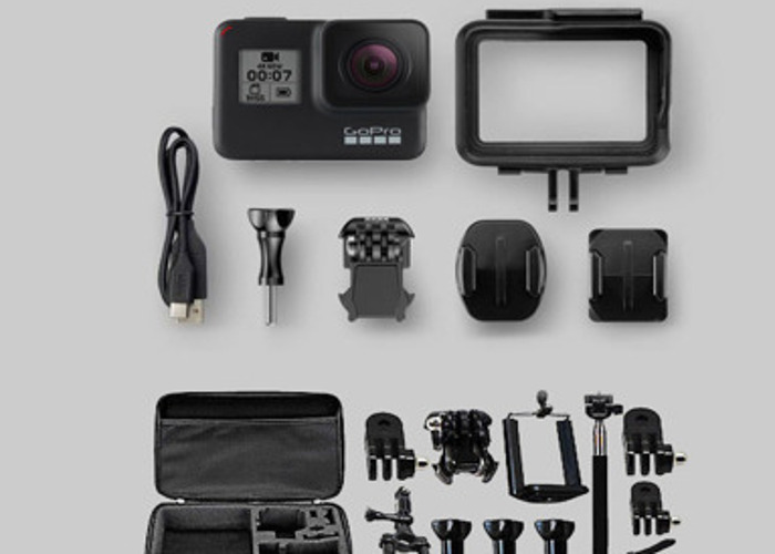 GoPro Hero 7 Black + accessories + 6 batteries Go Pro action - 1