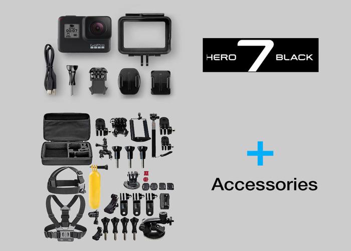 Rent GoPro Hero 7 Black + accessories + 2 batteries Go Pro