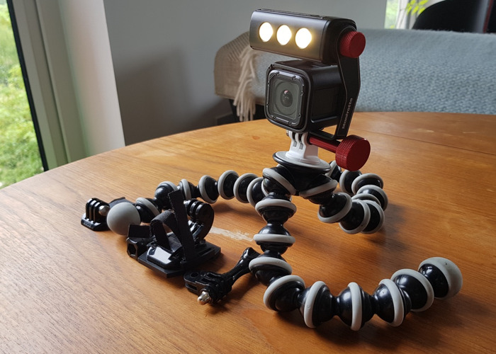 GoPro HERO5 Session 4K HD Action Cam plus Gorillapod and Manfrotto ThrilLED light - 1