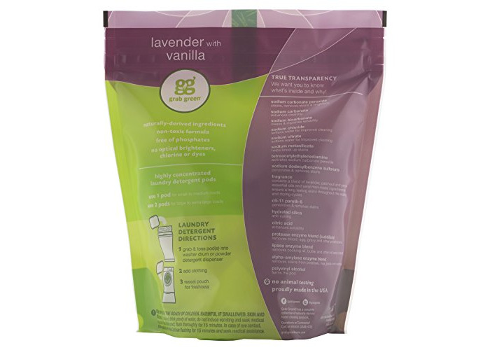 GrabGreen, 3-in-1 Laundry Detergent, Lavender & Vanilla, 60 Loads, 2 lbs 4 oz (1080 g) - 2