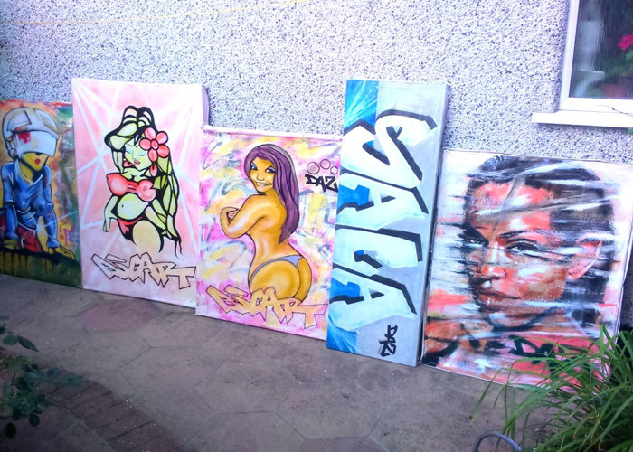 graffiti backdrops painting art - 1