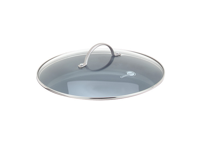 Greenpan 28 cm Tempered Glass with Stainless Steel Rim Universal Glass Lid with Metal Handle - 1
