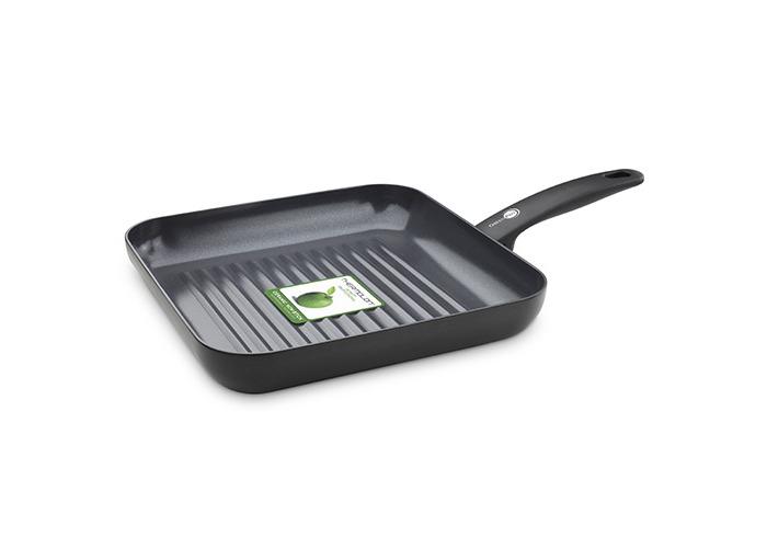 GreenPan Cambridge Infinity Ceramic Non-Stick Grill Pan, Black - 1