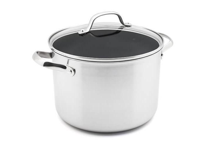 GreenPan Elements Ceramic Non-Stick Stock pot, Stainless Steel, 24 cm - 1