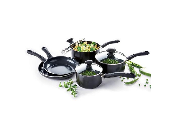 GreenPan Velvet Ceramic Non-Stick 5 Piece Cookware Set - 1