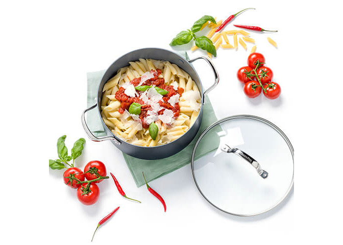GreenPan Venice Pro Hard Anodised Ceramic Non-Stick 20cm Casserole With Lid - 2