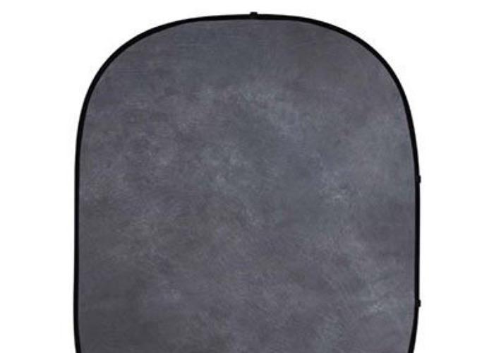 Grey muslin popup backdrop 5 X 6.5ft - 1