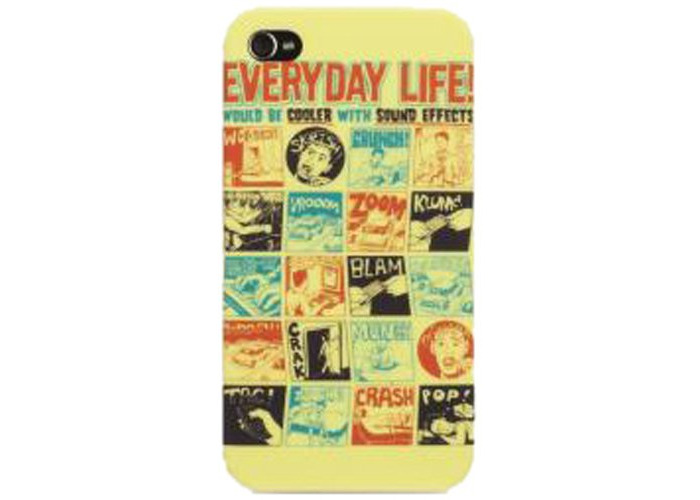 Griffin Case Threadless Everyday Life Would be Cooler With Sound Effects For iPhone 4, Black - 1