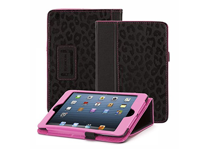 Griffin Folio Case with Stand for iPad Mini - Black/Pink - 2