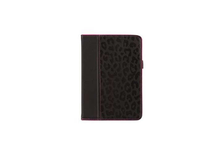 Griffin Folio Case with Stand for iPad Mini - Black/Pink - 1