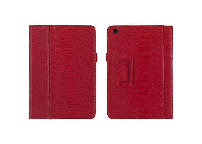 Griffin GB36129 Python Designed Moxy Folio for Apple iPad Mini - Dark Red/Gold - 2