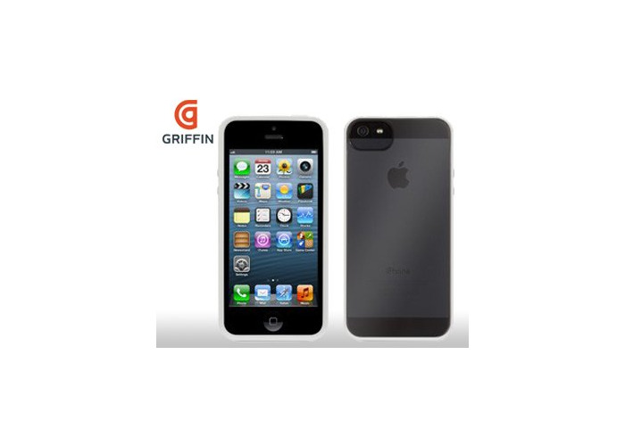 Griffin Reveal Slim Case Cover For iPhone 5s/5- Clear white/white Bumper Case - 2