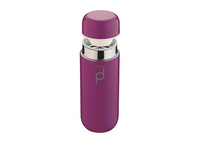 Grunwerg 200ml Drinkpod Stainless Steel Vacuum Flask Berry Purple - 1