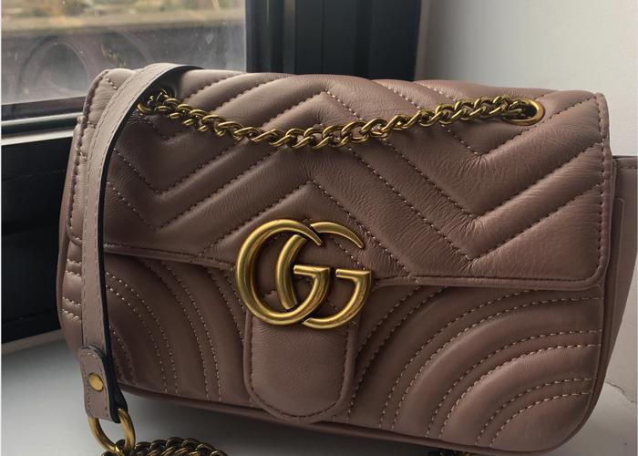 787158fd774a Rent Gucci GG Marmont matelassé shoulder handbag in London | Fat Llama