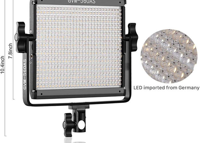 GVM 2X LED, BI-COLOUR LIGHTS WITH STANDS & BATTERIES & RGB FILTERS - 2