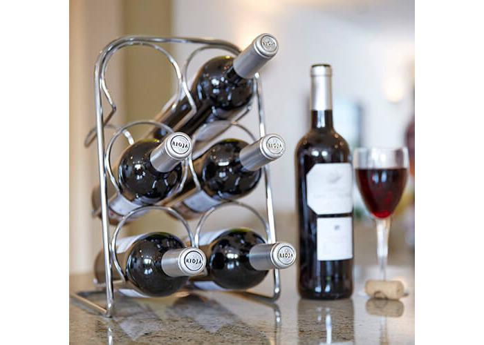 Hahn Pisa Chrome Wine Rack - 6 Bottle - 2