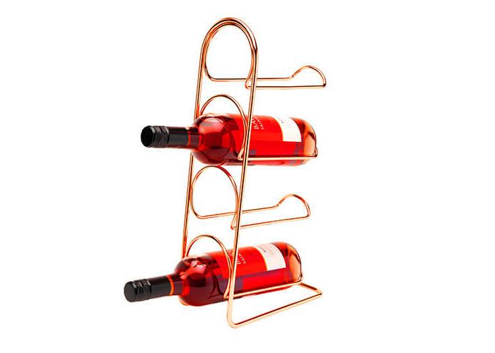 Hahn Pisa Copper Wine Rack - 4 Bottle - 2