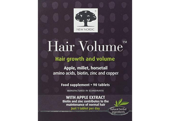 Hair Volume With Apple Extract, 90 Tablets - New Nordic US Inc - UK Seller - 1