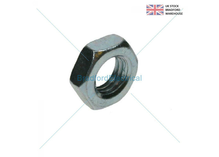 HALF LOCK NUTS ZINC PLATED STEEL BZP M20 (Pack of 10) - 1