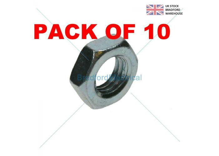 Buy HALF LOCK NUTS ZINC PLATED STEEL BZP M4 M5 M6 M8 M10 M12