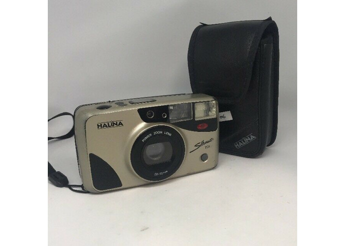 halina silhouette zoom Vintage Film Camera with Manual and Case - 1