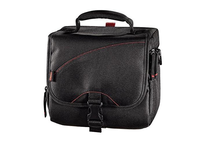Hama '140 Astana' Equipment Bag for Digital SLR Cameras, Camera Accessories, Tablets & Lenses | Compatible with Sony, Panasonic, Nikon, Kodak, Canon & Many More - Black - 1