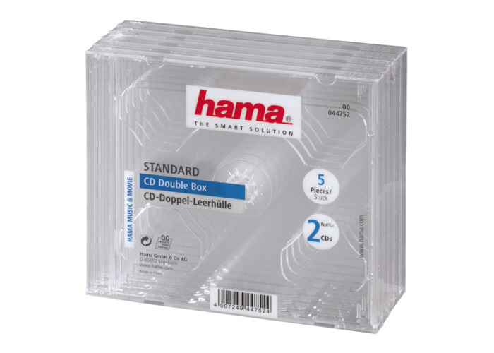 Hama CD Jewel Case for 2x Disc Pack 5 Clear - 1
