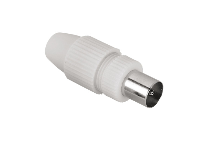 Hama Coax SAT Adapter Coax Plug to Cable Shielded Pack 1 - 1