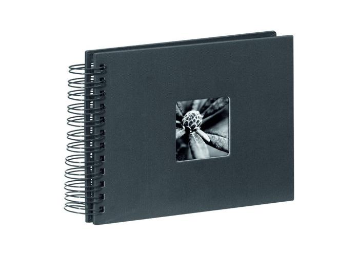 Hama Fine Art 50 Page Spiral Photo Album holds 50x 10x15cm Black - 1