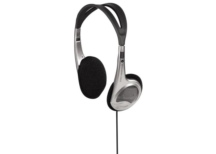 Hama HK229 On Ear Headphones Silver - 1