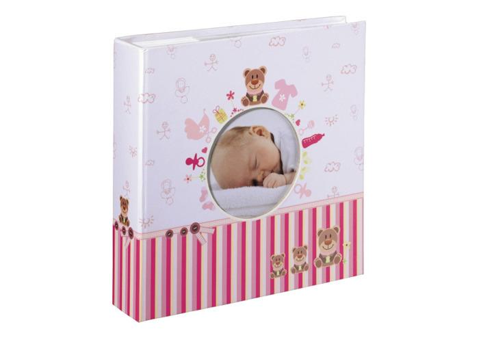 Hama Moni Baby Photo Album for 200x 10x15cm Pink - 1