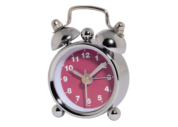 Hama Nostalgia Mini Alarm Clock Pink - 1