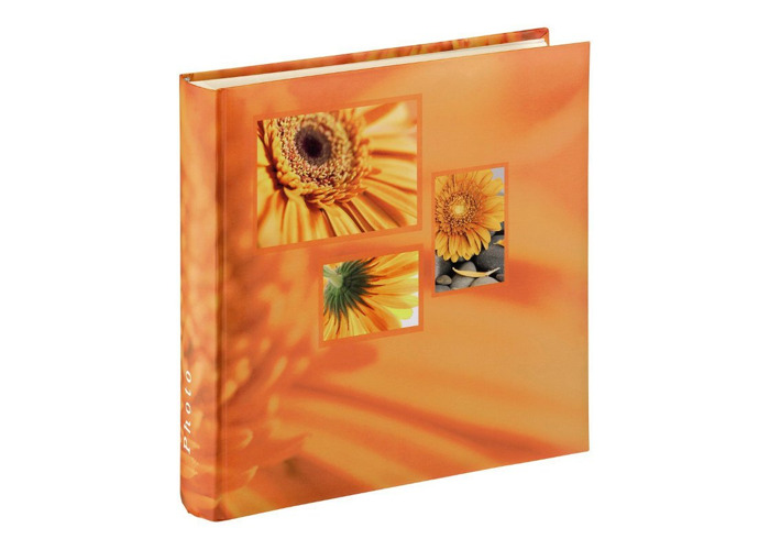 Hama Singo 100 Page Jumbo Photo Album holds 400x 10x15cm Orange - 1