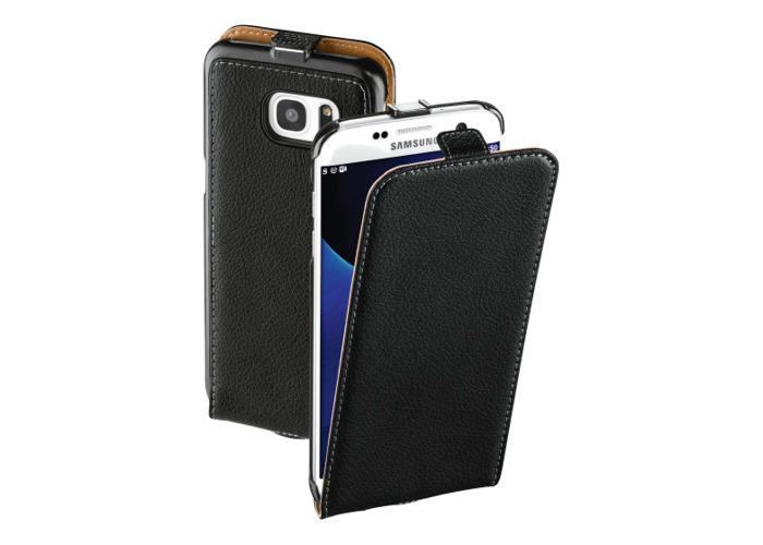 Hama Smart Flap Case for Samsung Galaxy S7 Edge Leather Black - 1