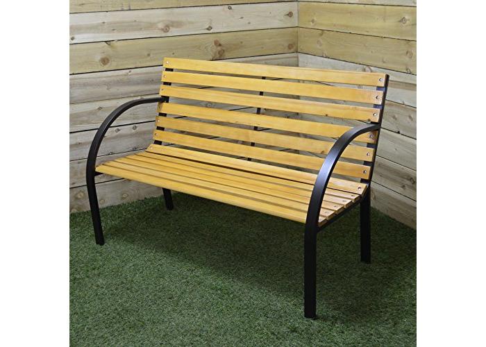 Hamble Redwood BB-FC121 2-Person Wooden Garden Bench - 1