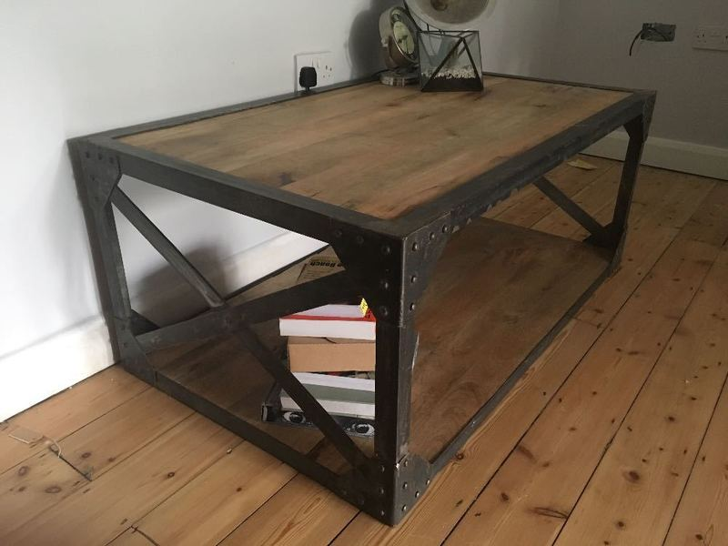 Hand made industrial styled coffee table - 2