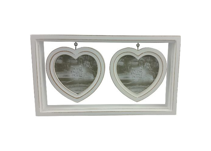 Hanging Heart Double Photo Frame - 1