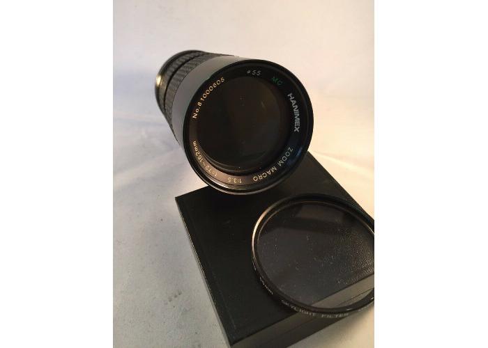Hanimex Zoom Macro MC Lens f=72-162mm   1:3-5 Pentax PK Mount + Filter (527) - 1