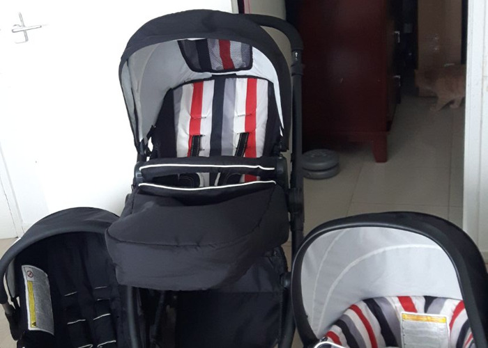 Hauck London All in One Travel System - Rainbow Black STOLLE - 1